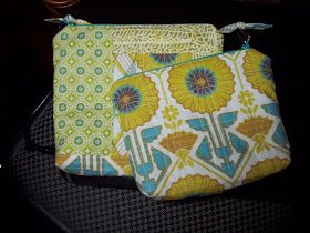 Sew Sunshine: Quilt as you go - Zippered cosmetic bags