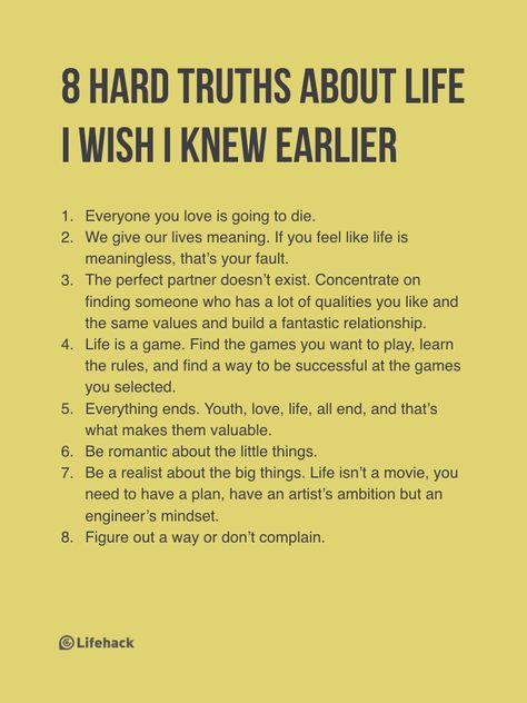 Once You Learn These 8 Hard Truths About Life You Ll Become Much Stronger Motivational Quotes Inspirational Quotes Life Quotes