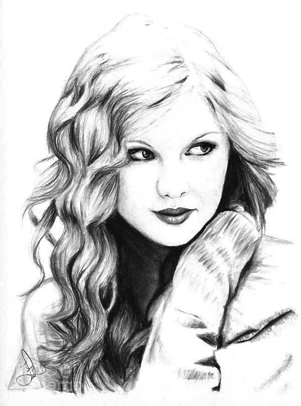 Taylor Swift, : Taylor Swift My Favorite Singer Coloring