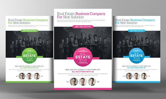 Real Estate Agents Flyer Template by Business Templates on