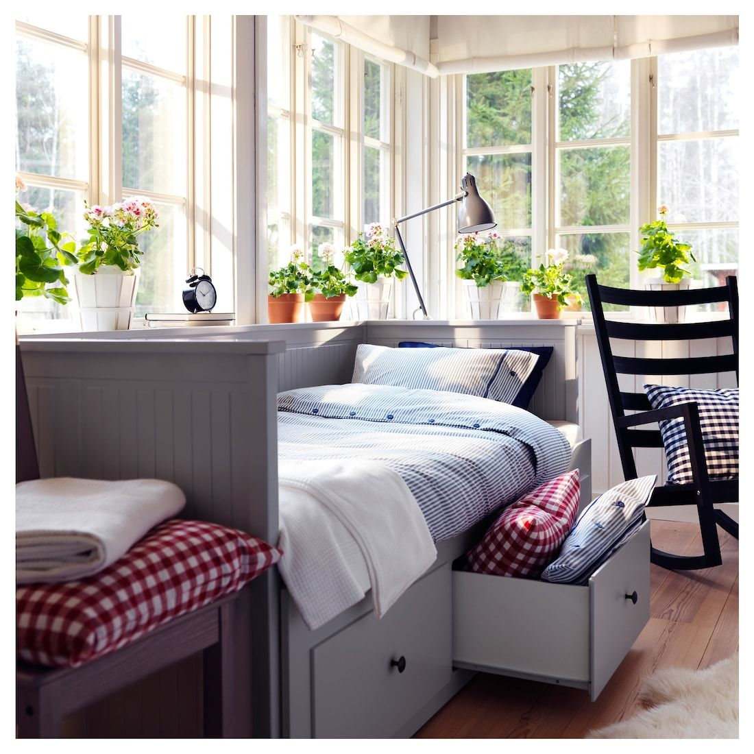 Hemnes Daybed Frame With 3 Drawers Gray Ikea In 2020 Ikea Hemnes Daybed Murphy Bed Ikea Hemnes Day Bed