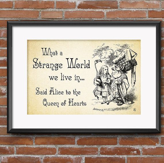 Alice In Wonderland Decor Party Decorations Wall Art