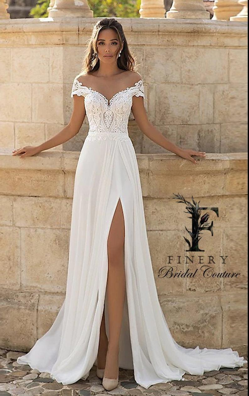 Beach Bohemian Wedding Dress, Boho,   Wedding dresses lace, Dream ...