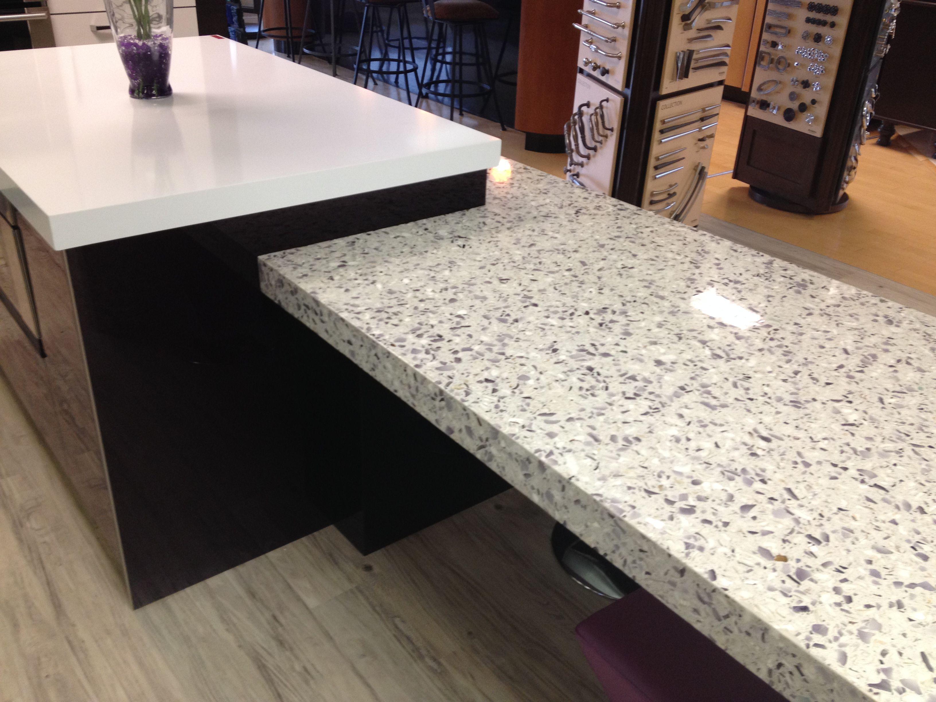 Amethystos VETRAZZO Recycled Glass U0026 POMPEII Quartz EXTRA EXTRA Countertop.  Www.umistone.com