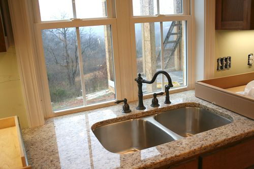 kitchen sink window, no backsplash? | Kitchen faucet design ...