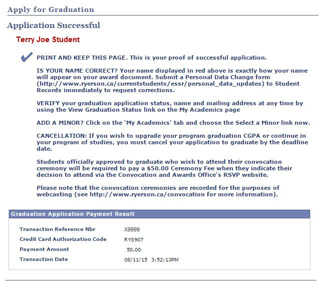 Late Application Graduate Fee The Payment Result Will Appear