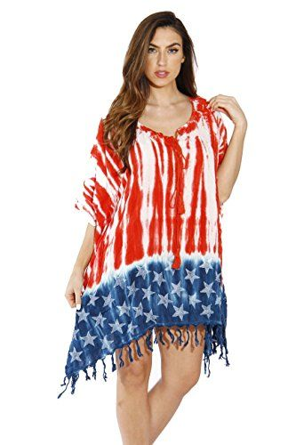 Riviera Sun American Flag Caftan Caftans Swimsuit Cover Up - women American  flag clothing   Show how proud you are of our beautiful country with women  ... 4ba94a50a