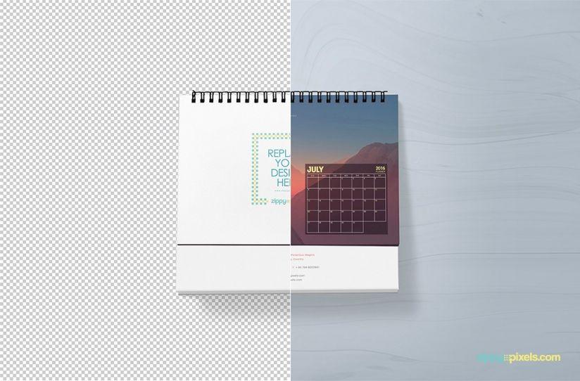 free desk calendar mock-up in psd file format | Resources ...