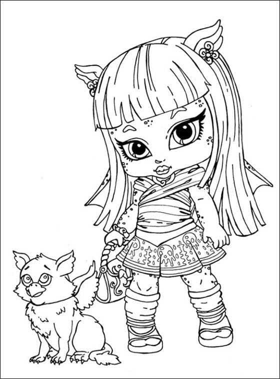 Monster high coloring pages Monster