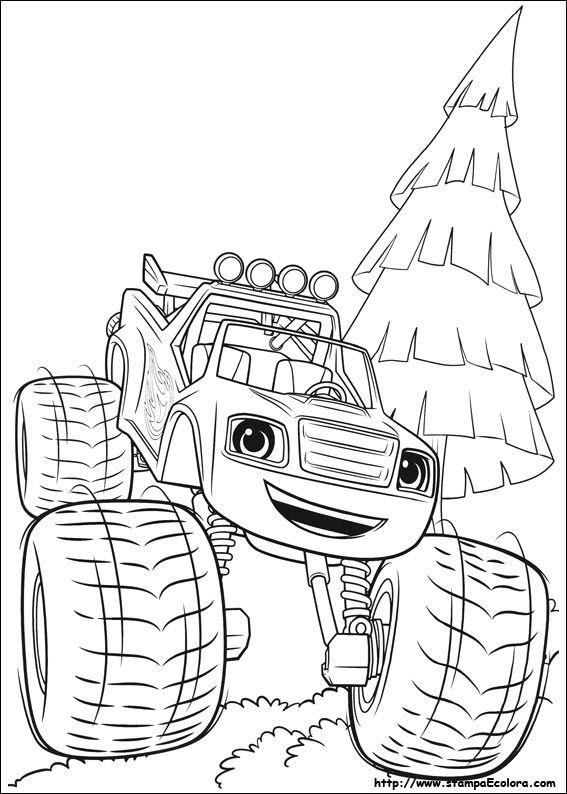 Disegni di blaze e le mega macchine da colorare disegni for Blaze e le mega macchine da colorare
