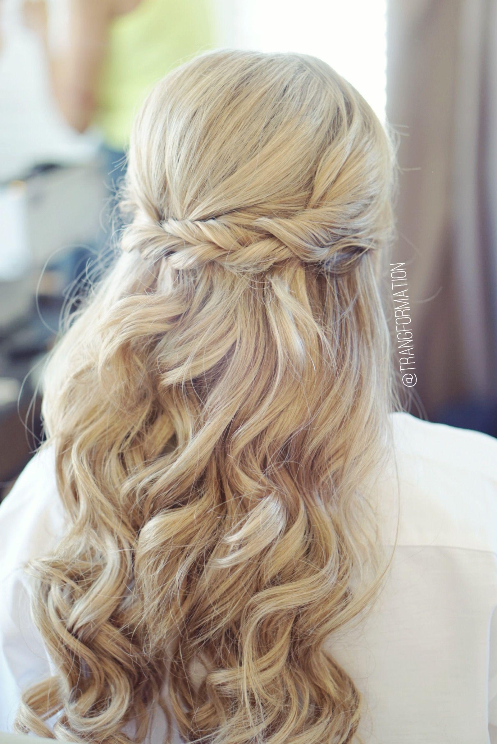 Half up half down bridal hair wedding hair bride wedding