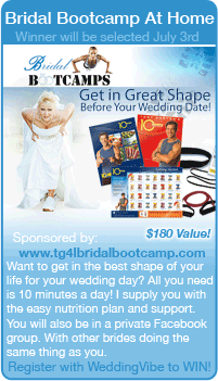 Get in shape before your wedding with a bridal bootcamp kit from www.WeddingVibe.com!  Wedding Giveaways, Free wedding stuff, free wedding giveaways