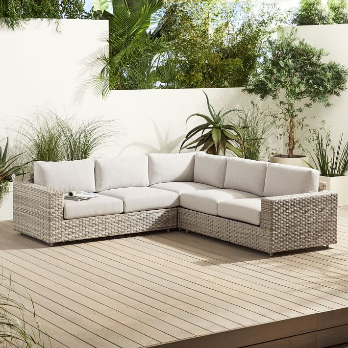 Urban Outdoor 3 Piece L Shaped Sectional In 2021 Lounge Chair Outdoor Patio Couch Outdoor Furniture Covers