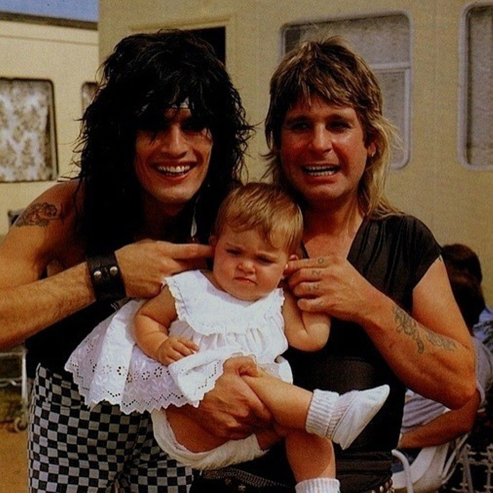 Ozzy Osbourne With His Daughter Aimee And Tommy Lee Ozzy Osbourne Tommy Lee Motley Crue