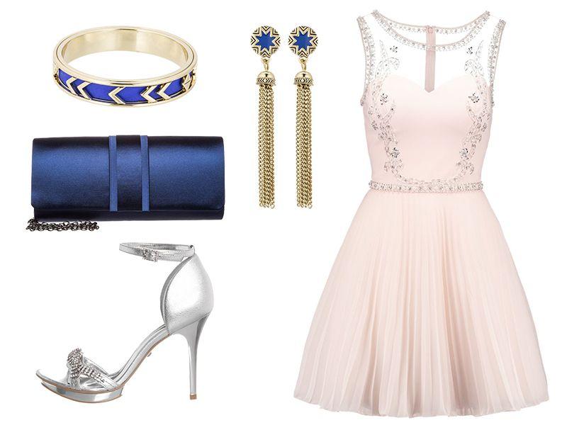 bc49efeef72927 Pudrowy róż i złoto granatowe dodatki   Stylizacje   Sukienki, Ślub ...