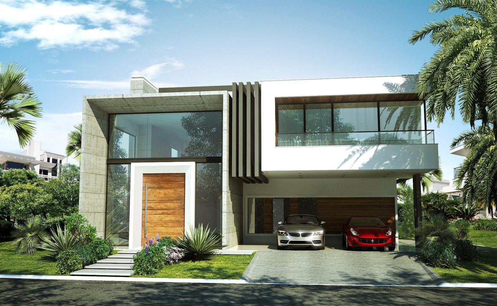 Zeka casa cinza 1600 984 arch architecture for Casas modernas renders