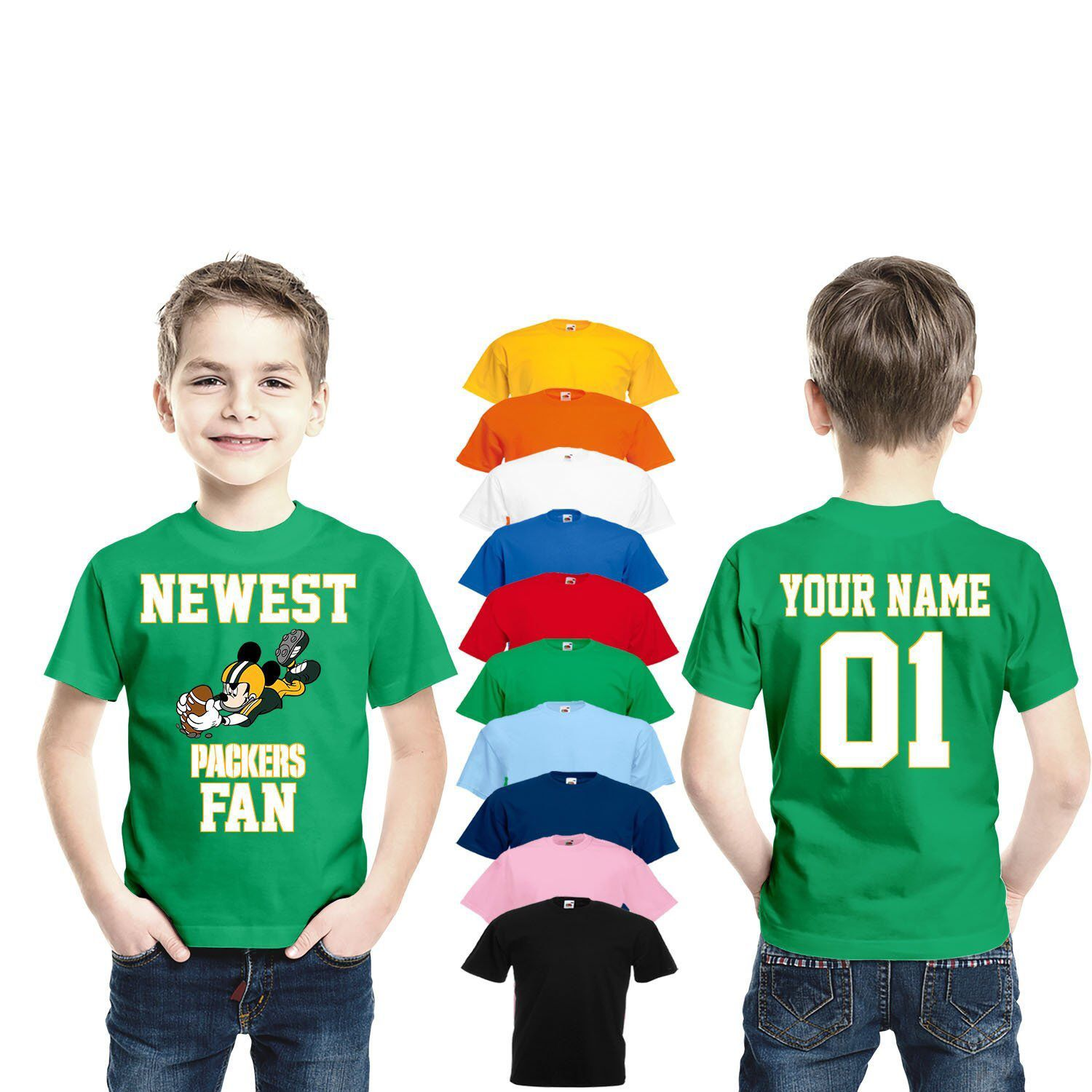 df3efc64 Excited to share this item from my #etsy shop: Green Bay Packers Newest fan  mickey shirt personalized jersey Funny Kids Infant Kids Fan Green Bay shirt  ...