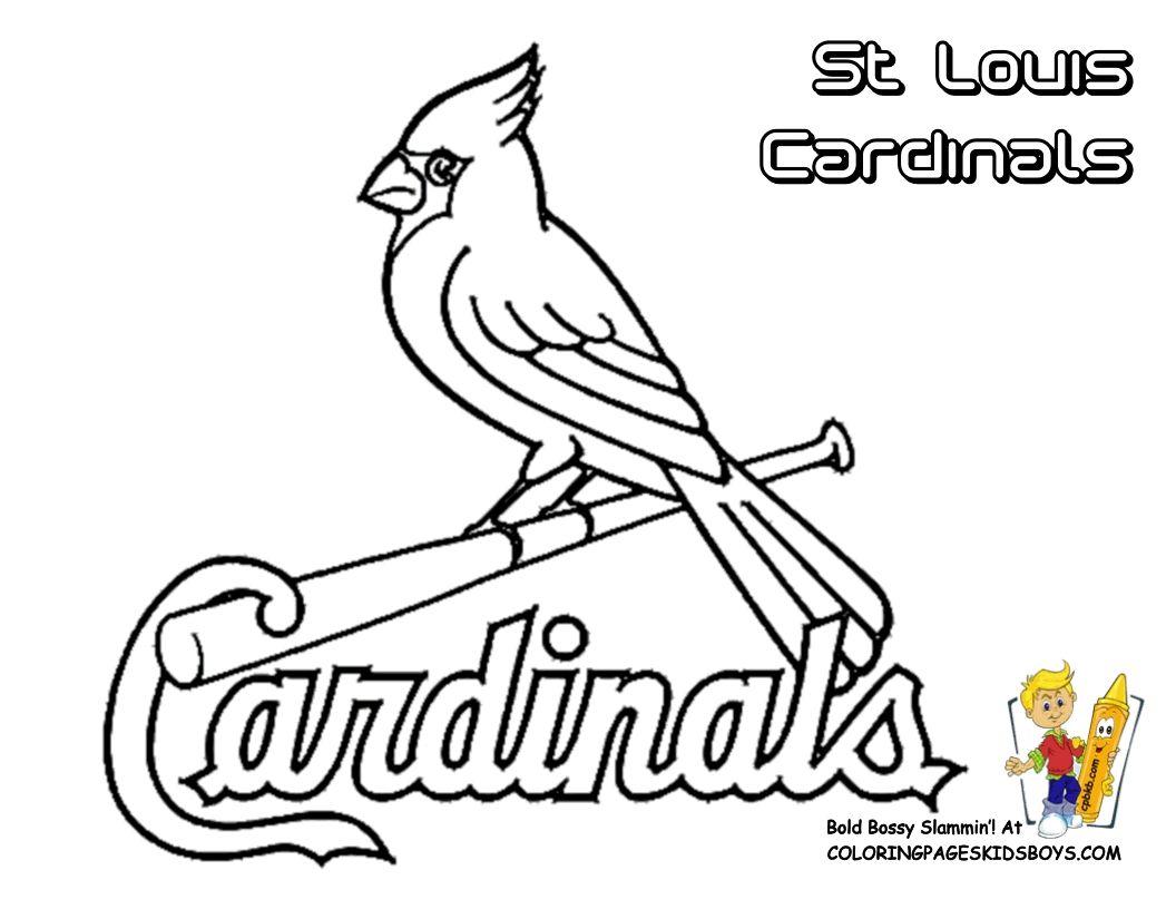 Cardinals Logo Coloring Pages Gallery Alabama