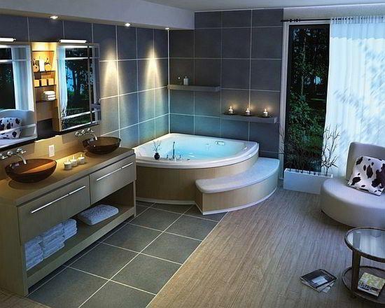 banheiros-decorado-3jpg (550×440) banheiro Pinterest - badezimmer fliesen ideen schwarz weiß