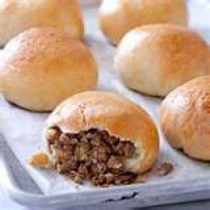 Bierocks German hamburger and cabbage filled buns--like Kraut Burgers? I grew up calling these Runza's