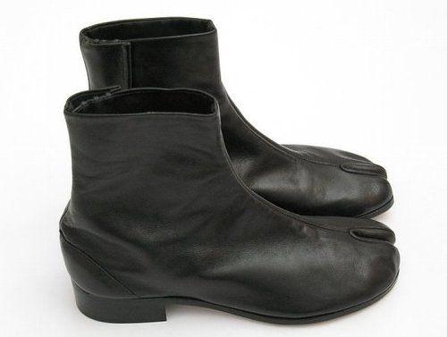 Footwear · Martin Margiela Leather Split Toe Tabi ...