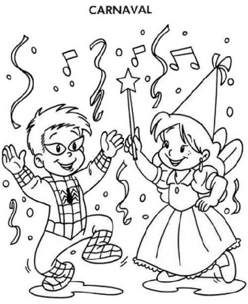Dibujo Baile de Disfraces Carnaval | librería | Carnival