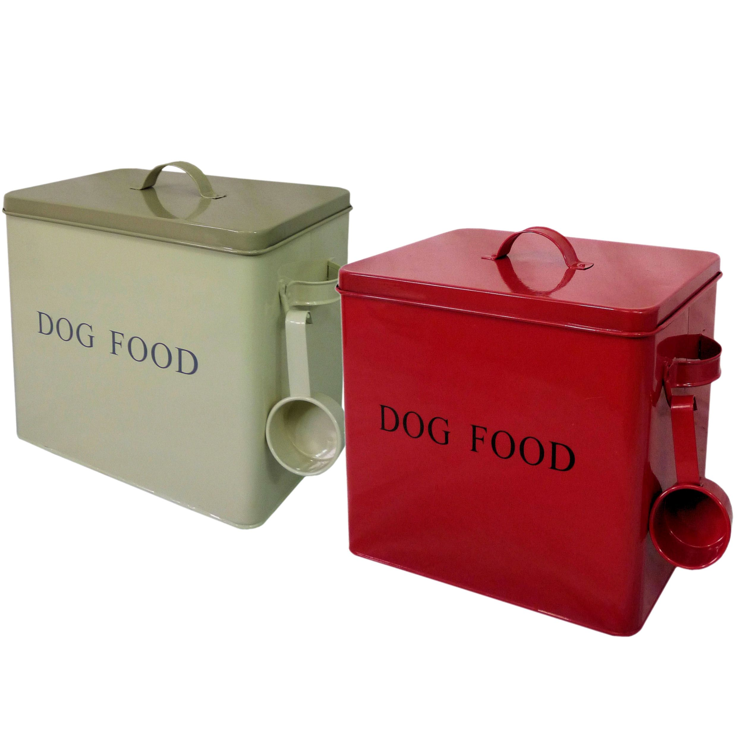 Retro Vintage Enamel Dog Puppy Dry Food Storage Box Container Tin with Scoop  sc 1 st  Pinterest & Retro Vintage Enamel Dog Puppy Dry Food Storage Box Container Tin ...