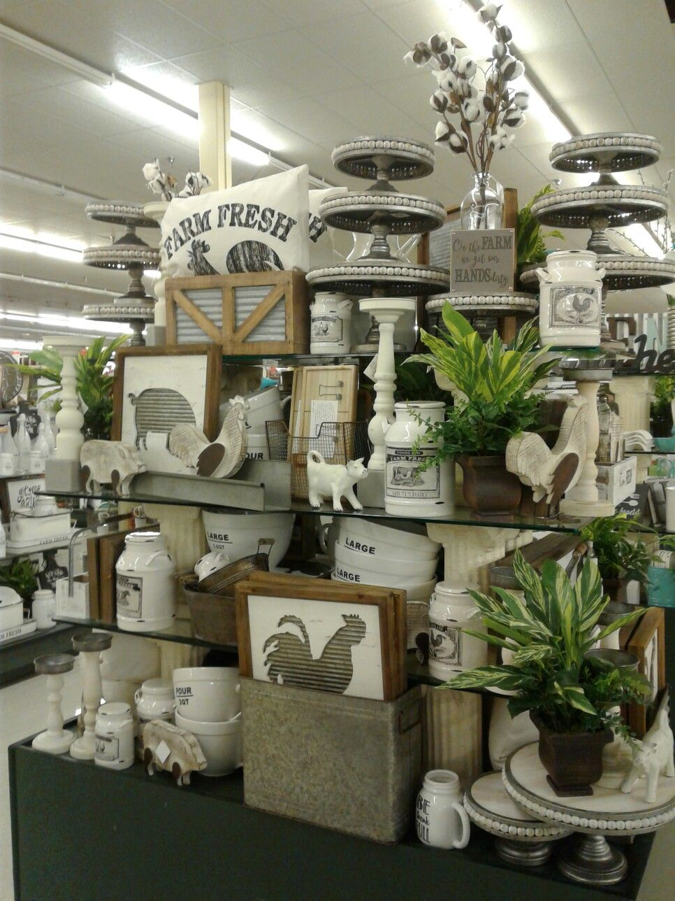 Wow! Great Farm House table display at Hobby Lobby in