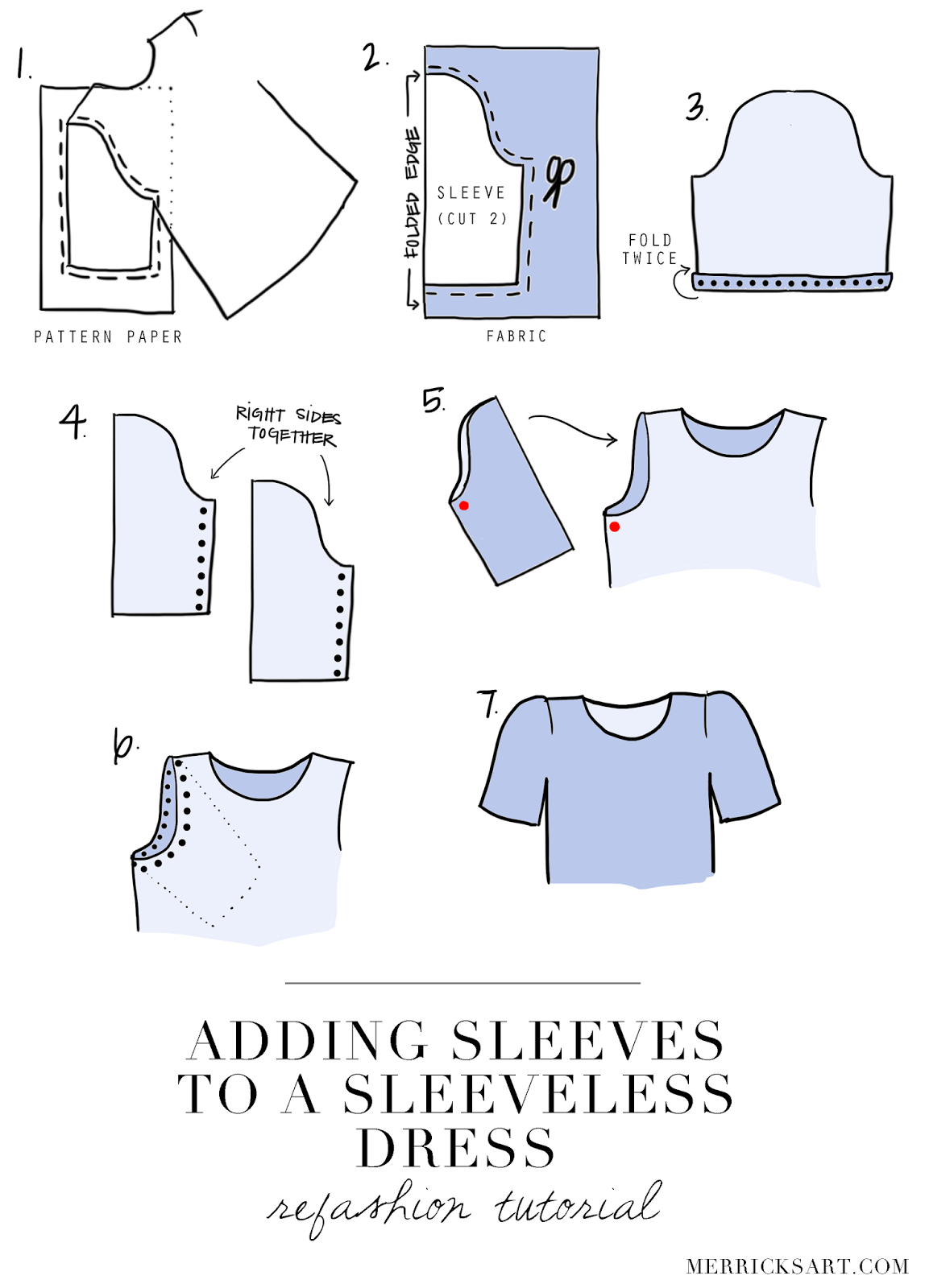 How to sew a sleeve 87