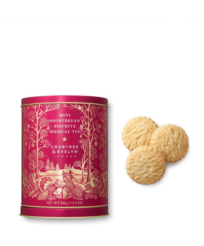 Mini Shortbread Biscuits Musical Tin 240g Crabtree Evelyn