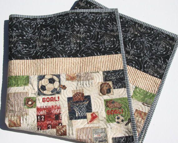 Sports Quilt Baby Boy Blanket Nursery Bedding