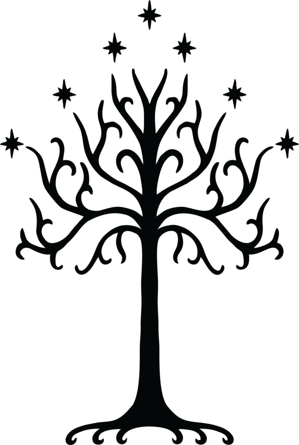 Tree of Gondor Wall Decal FREE SHIPPING