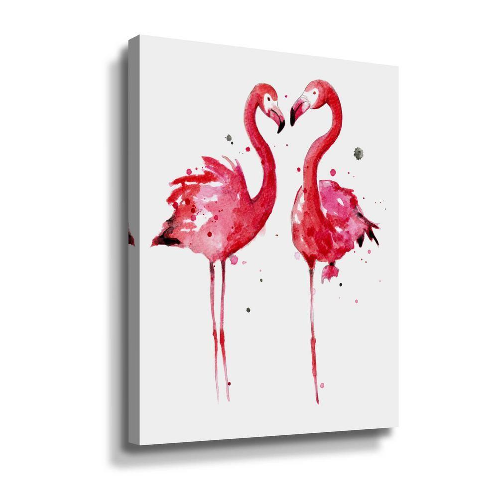 Artwall Pink Flamingos By Sam Nagel Canvas Wall Art 5nag006a2432w The Home Depot Flamingo Art Print Flamingo Art Framed Canvas Wall Art