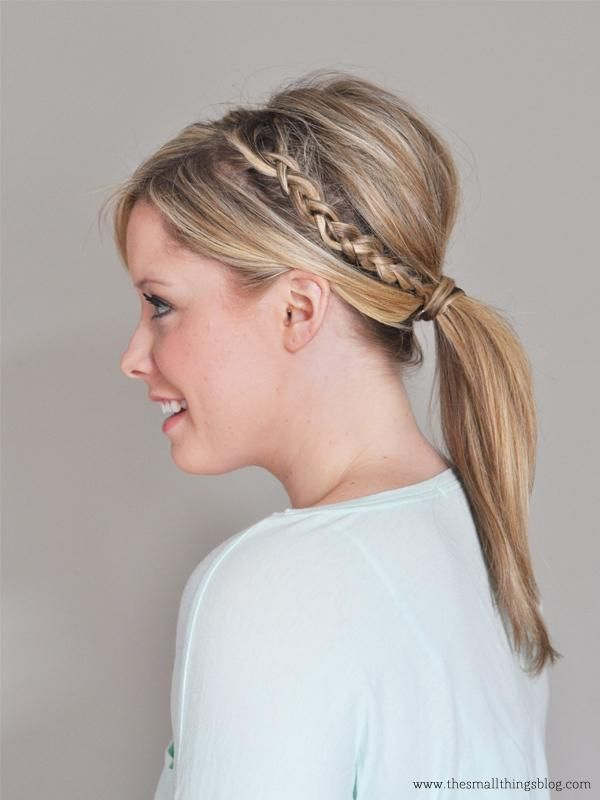 Cute Hairstyles: 10 Ideas You Can Copy in Under 10 Minutes - upgrade your low ponytail with a mini braid and wrap a section around the tie for a sleek finish