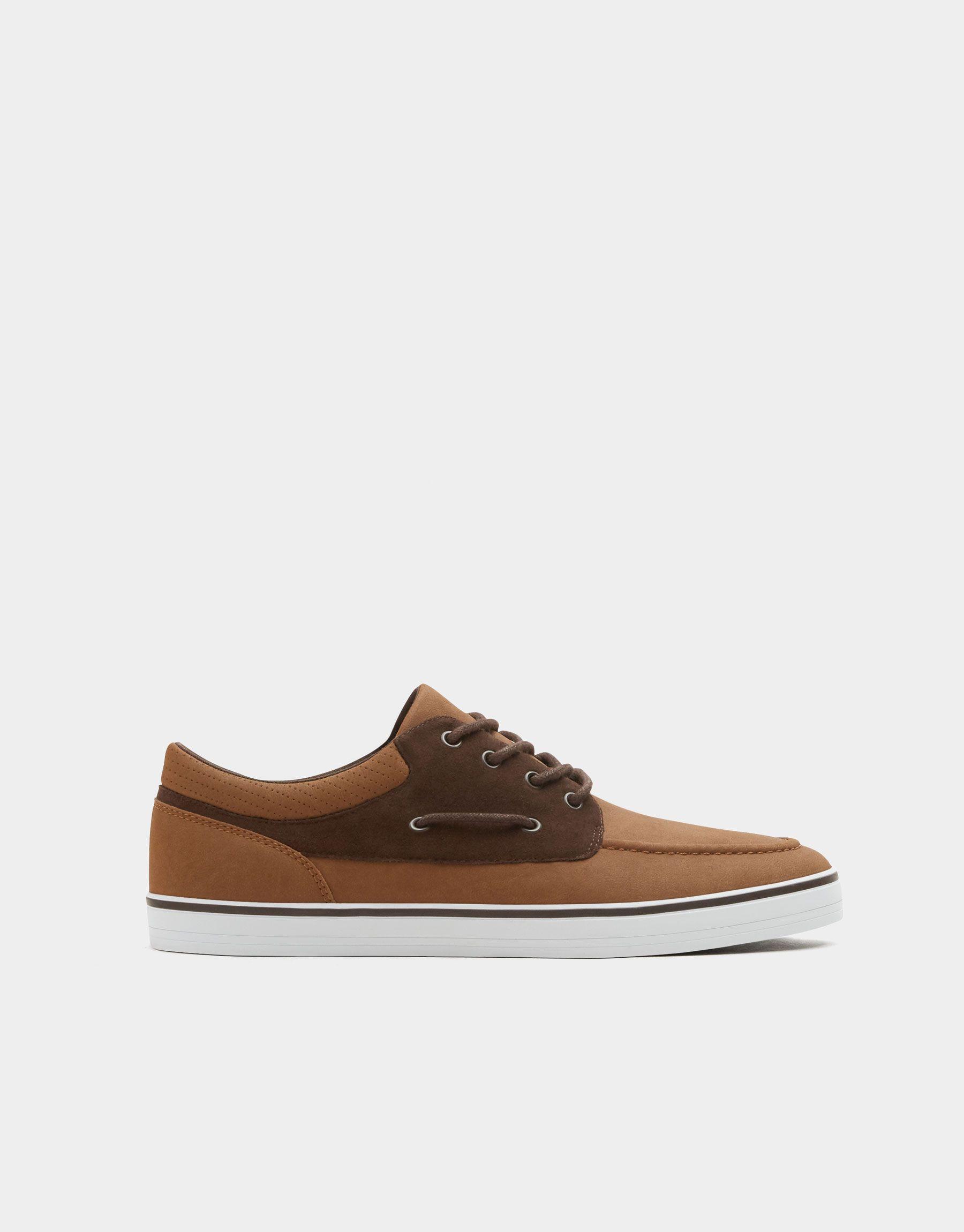 e8de3deb Zapatilla náutica marrón - Ver todo - Zapatos - Hombre - PULL&BEAR España