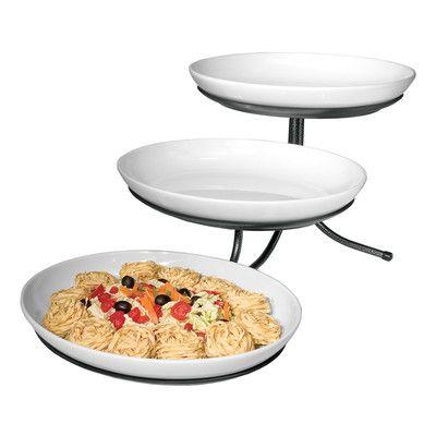 Sierra 3 Tier Stand With Oval Platters Wayfair Oval Platter Platters Tiered Stand