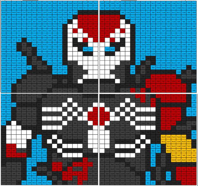 Maximum Venom Iron Man Multiplication Coloring Squared Iron Man Math Coloring Pixel Art