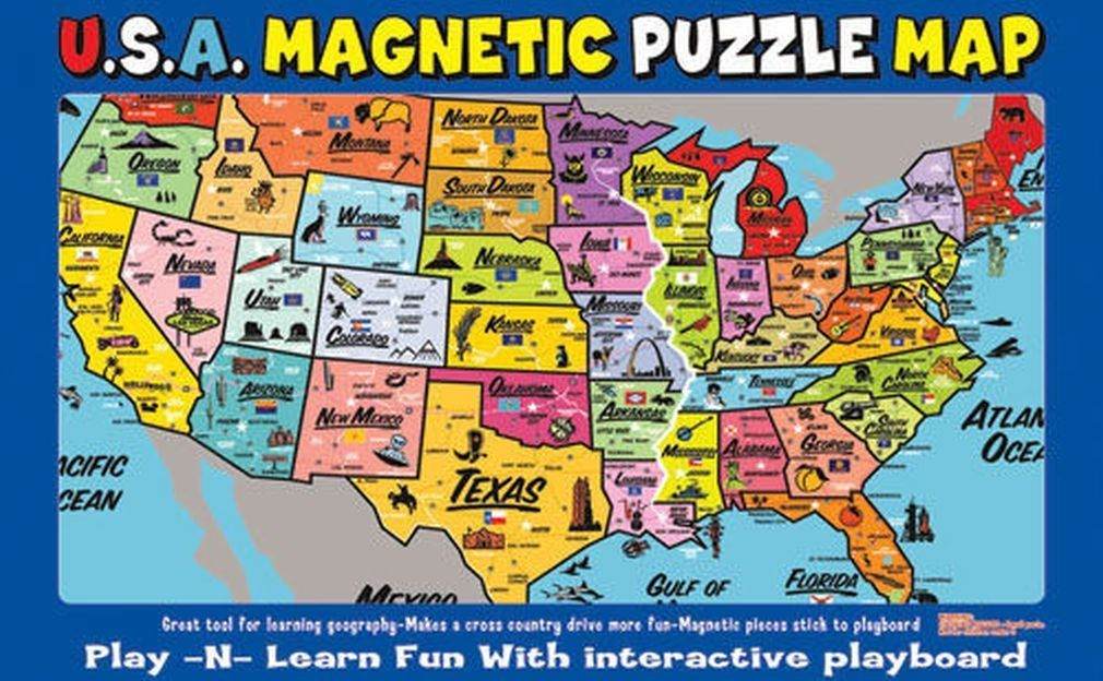 AtaBoy USA Map PlaynLearn Puzzle
