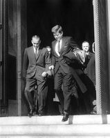 President Kennedy attends Mass, 10:54AM - John F. Kennedy Presidential Library & Museum