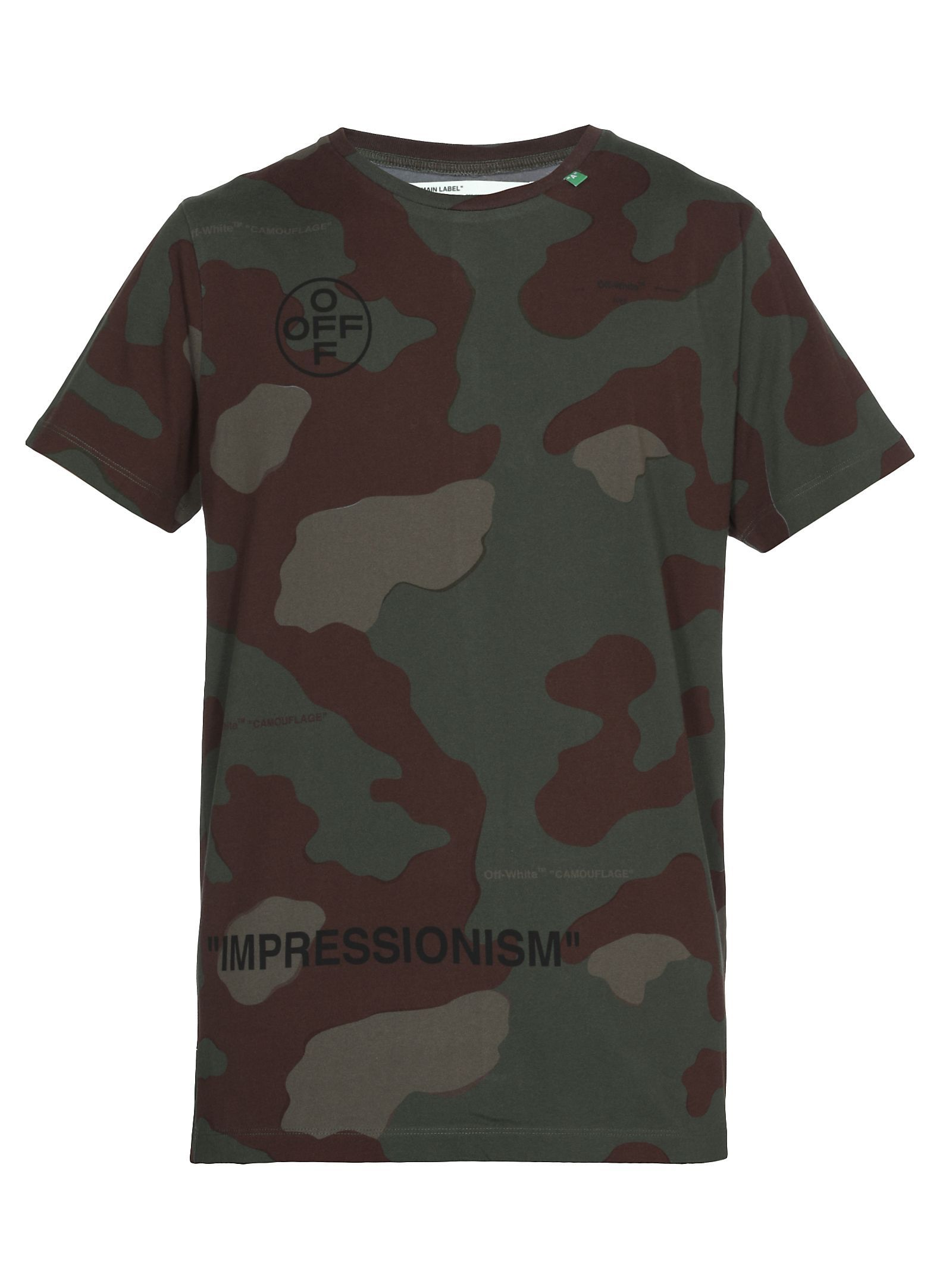 6e0e18e9a951f OFF-WHITE STENCIL CAMOUFLAGE T-SHIRT. #off-white #cloth | Off-White ...