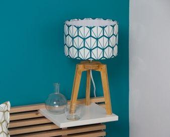 petite lampe trepied fragments bleu for the home. Black Bedroom Furniture Sets. Home Design Ideas