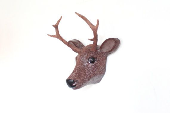 Paper mache wall mount head sculpture / by Macheanimal on Etsy
