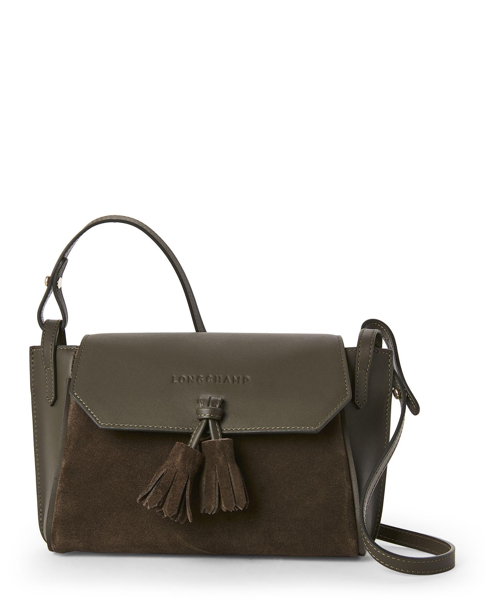 02ea7359b4e9 Longchamp Khaki Pénélope Soft Leather Crossbody