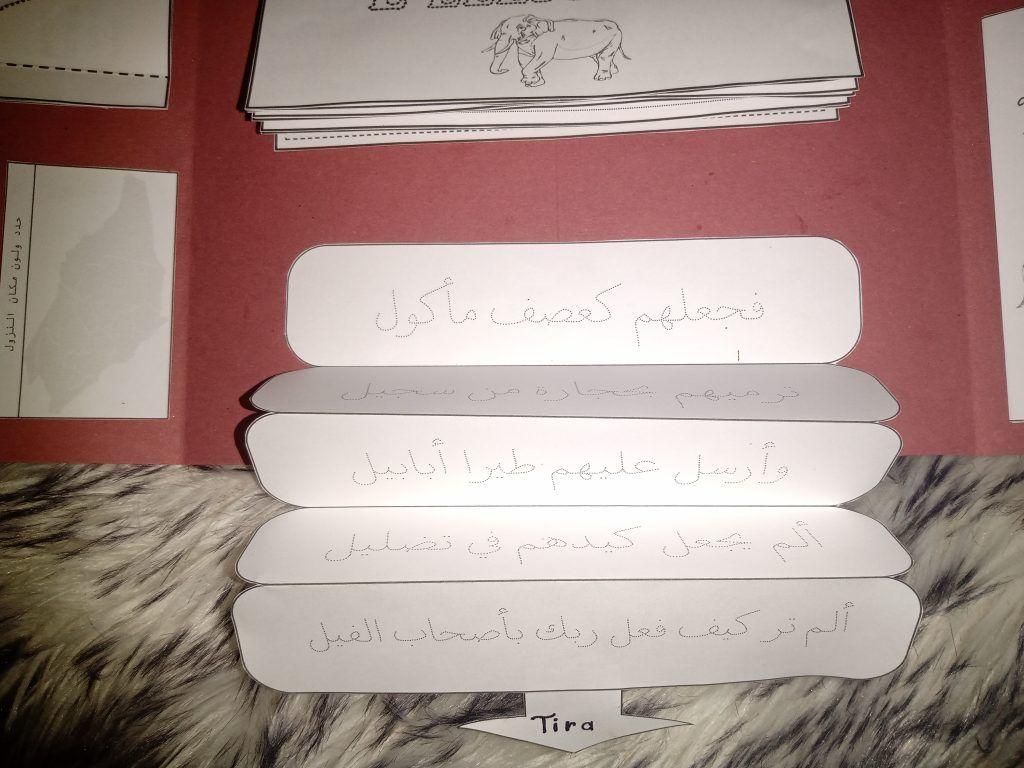 أنشطة تحفيظ وتعليم سورة الفيل Place Card Holders Cards Place Cards