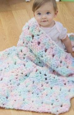 Sleepytime Blanket Free Crochet Pattern from Red Heart Yarns