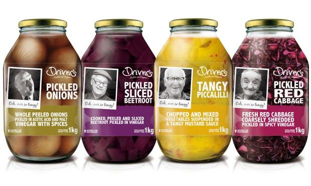 Driver's Pickle & Vinegar Company real people #packaging PD