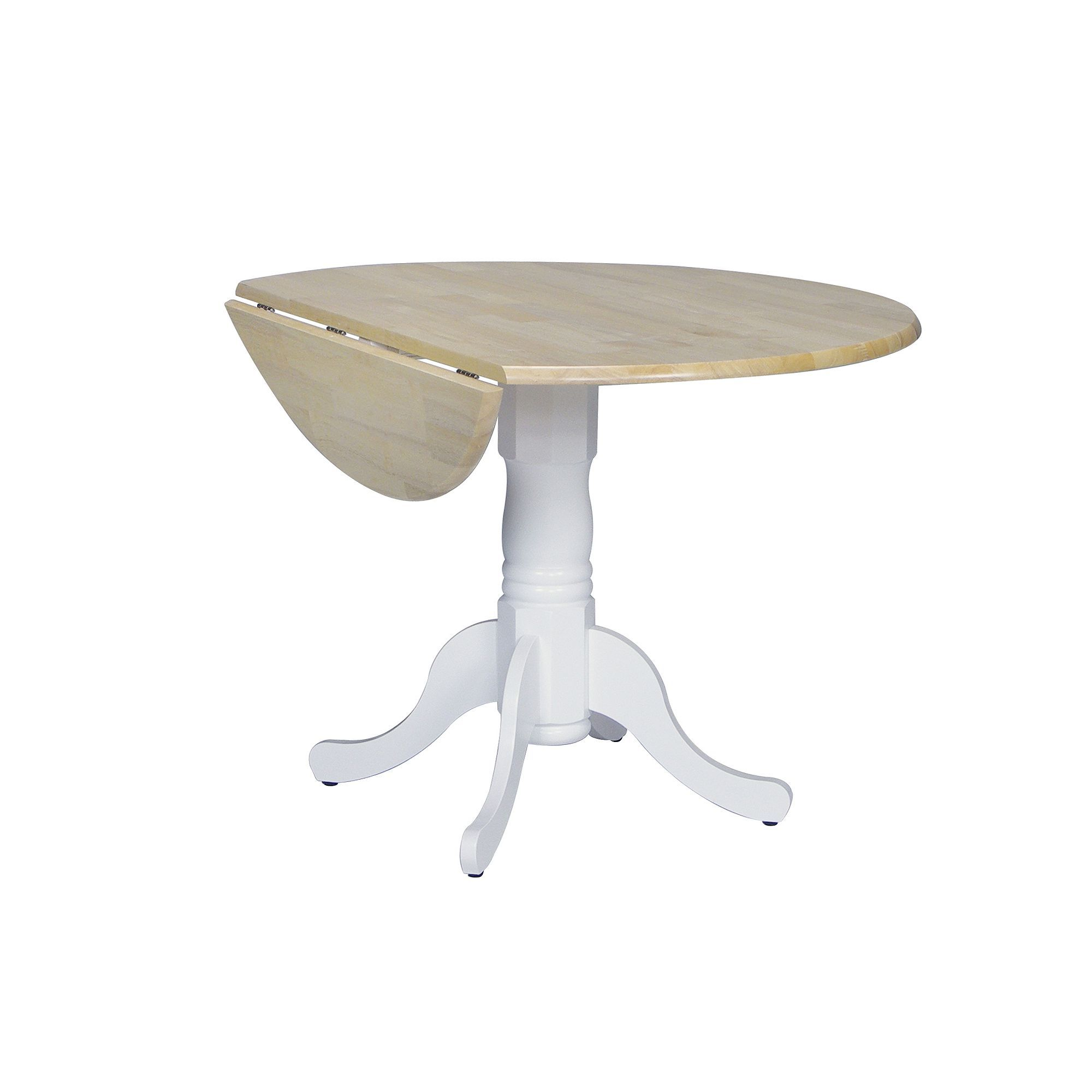 Winsome wood table double drop leaf round mission moon shape fold down - Round Drop Leaf Table Red
