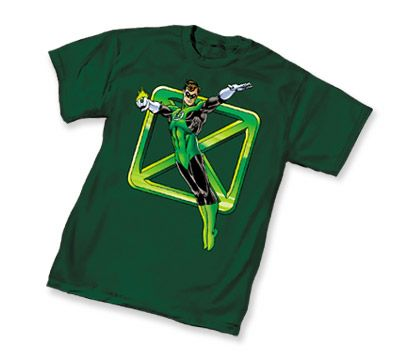 Green Lantern II Flying X Symbol Green Adult T-Shirt