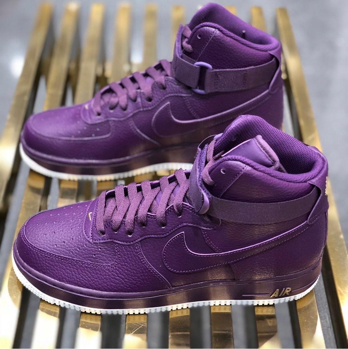 the latest d6c66 92030 Nike Air Force One high top Purple | Sneak Peak in 2019 ...
