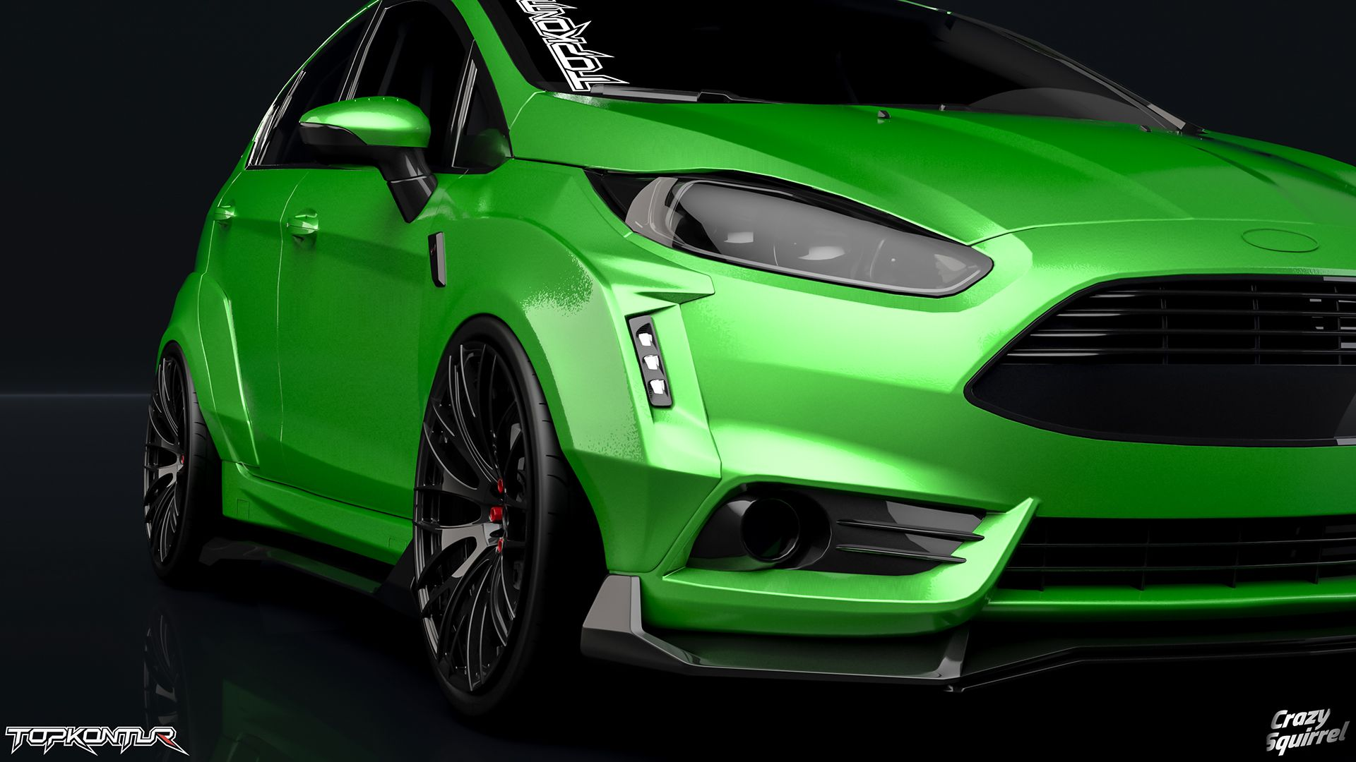 Ford Fiesta St 2016 Tuning Project Crazy Squirrel On Behance Ford Fiesta St Ford Fiesta Fiesta St